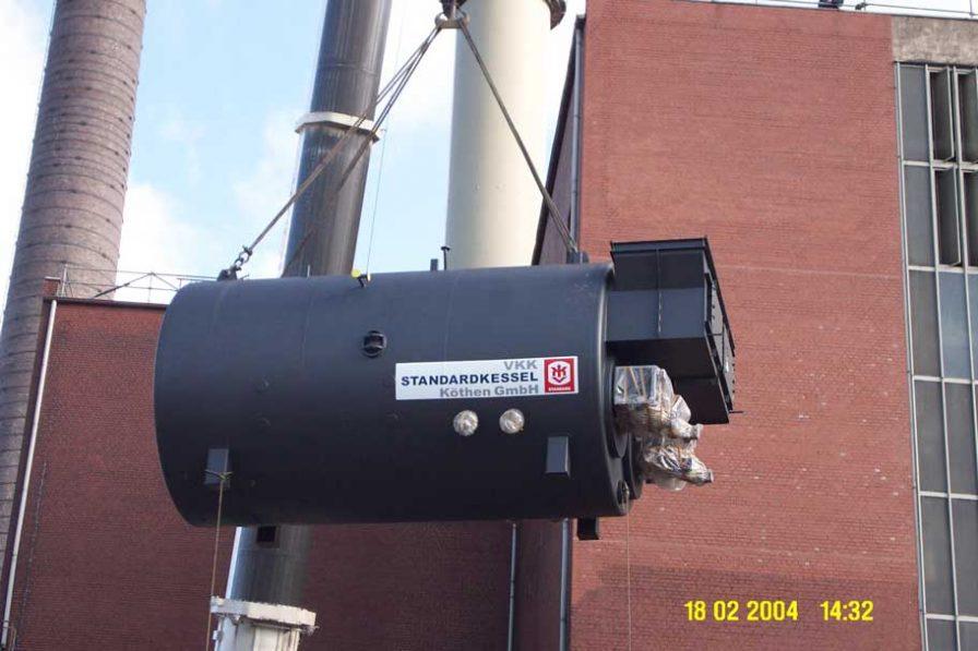Kesselanlage für Sommerlast- und Spitzenabdeckung in einem Heizkraftwerk