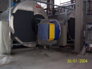Dampfversorgung einer Bioethanol-Fabrik mit Produktions- und Heizwärme