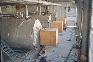 Dampfversorgung einer Brauerei für Produktions- und Heizwärme