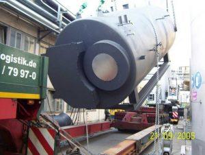 Dampfkesselanlage für einen milchverarbeitenden Betrieb