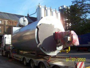 Versorgung eines lebensmittelverarbeitenden Betriebes mit Dampf