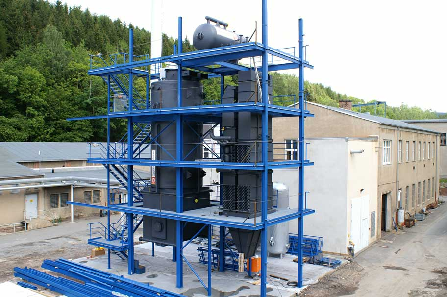 Hochdruckdampfkessel zur Versorgung einer Papierfabrik