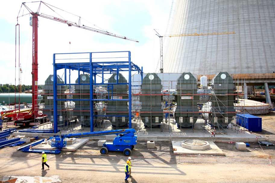 Hilfskessel für ein Kohlekraftwerk