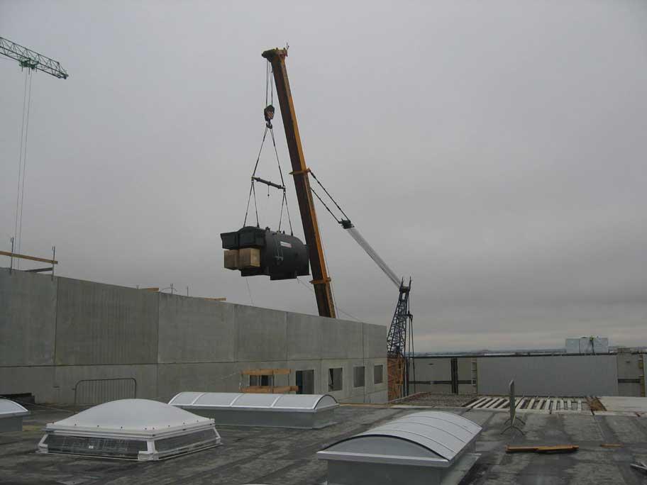 Versorgung einer Papierfabrik in England mit Produktions- und Heizwärme