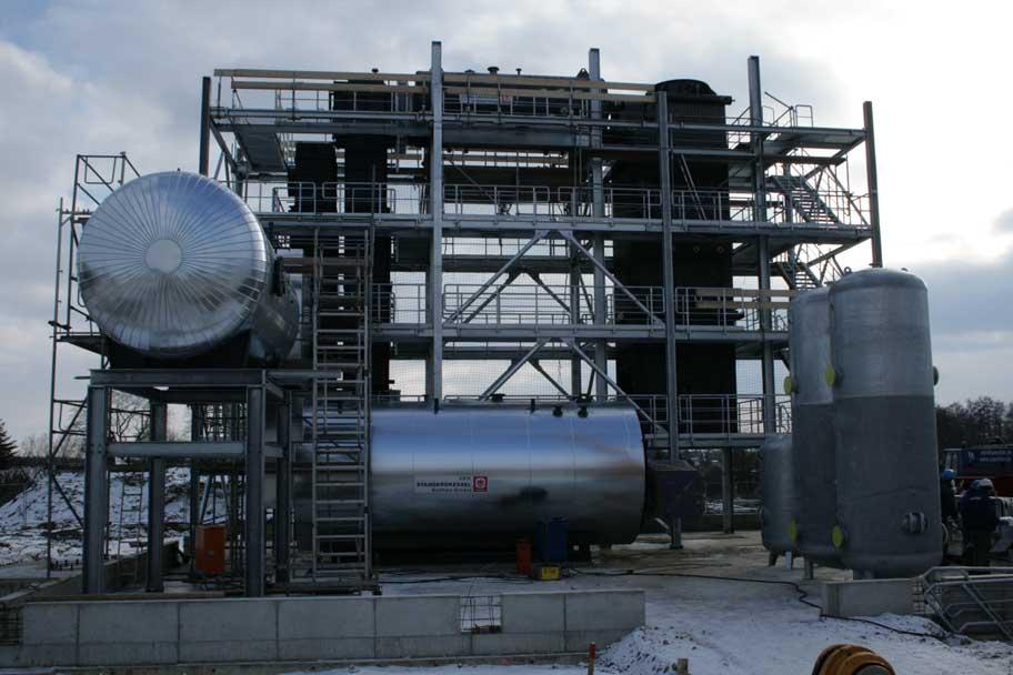 Hochdruckdampfkesselanlage zur Versorgung einer Molkerei mit Dampf