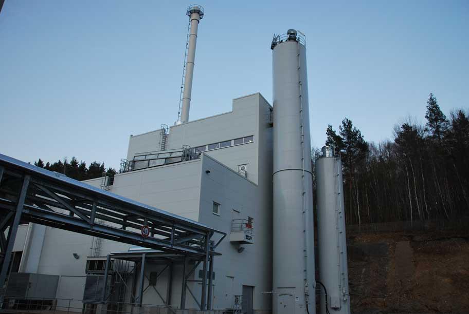Industriekraftwerk zur Versorgung einer Papierfabrik in Thüringen