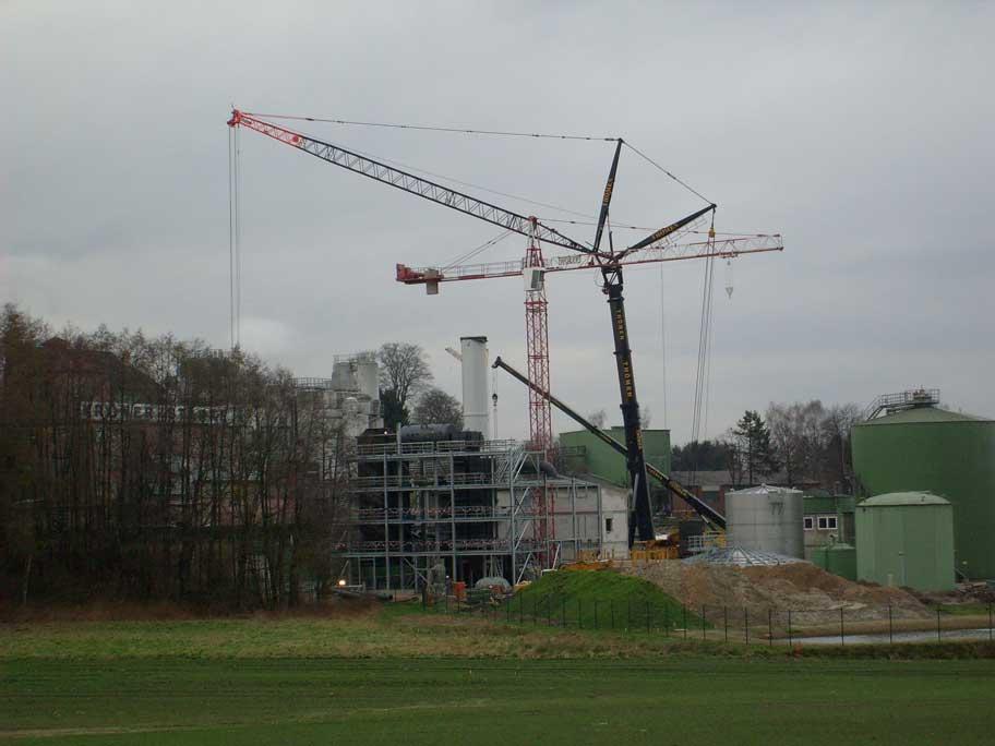 Industriekraftwerk zur Versorgung einer Stärkefabrik in Niedersachsen