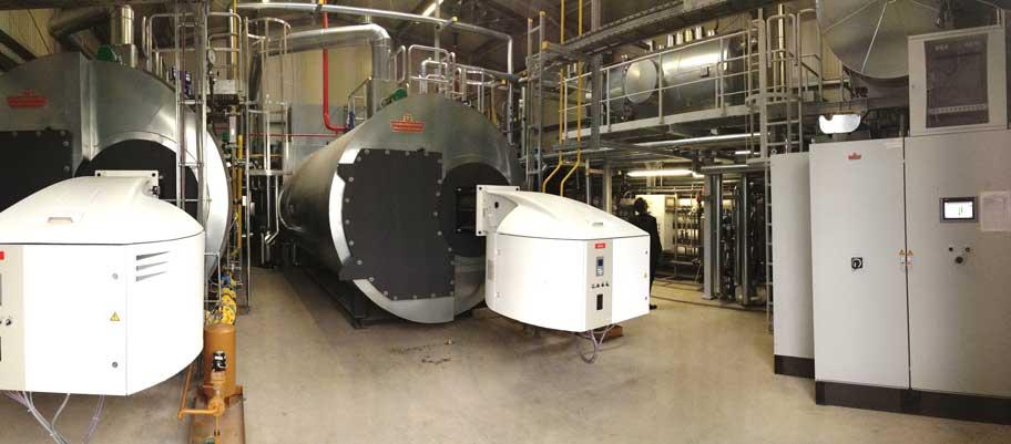 Versorgung eines chemischen Betriebes mit Dampf und Produktionswasser